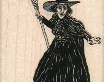 largeRubber stamp Halloween Witch Wizard of Oz  stamps Wicked witch of the west scrapbooking supplies number 10579