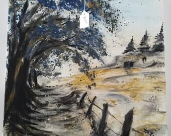 "16""×20"" acrylic on canvas panel"