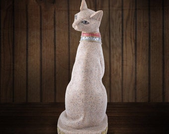 Bastet Egypt Cats Figurine Colored Drawing Fortune Statue Resin Crafts Home decoration Open gift for hotel
