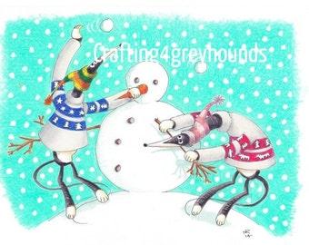 Greyhound & Galgo Christmas Cards Set 2