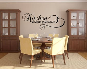 Kitchen the Heart of the Home Kitchen Vinyl Wall Quote