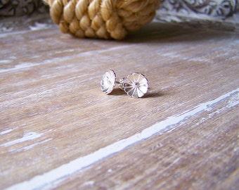 Sterling Silver Daisy Stud Earrings, Flower Studs, Flower Post Earrings
