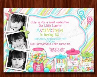 Süße Shoppe Buffet Geburtstag Einladung druckbare digitale Datei