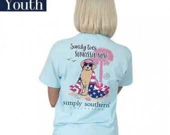 Simply Southern® YTH-PREPPYSANDY-MARINE