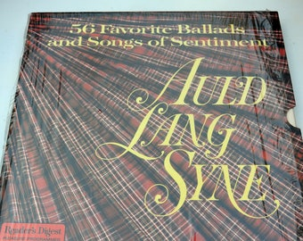 Auld Lang Syne - 4 Record Set - 56 Songs of Sentiment, Reader's Digest - Vintage - Fabulous!