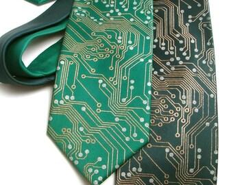 Circuit Board Tie - Men's Neck Tie - Circuit Board Necktie - Geek Gift - Tech Gift