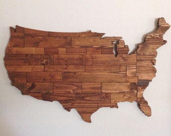Repurposed Wood United States Sign
