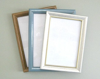 Small Picture Frame Craft Frame Photo Frame Photo Picture Frame Brown Frame Small Frame Table Frame with Glass Miniature Frame Table Top
