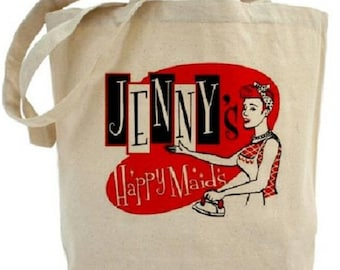 Cotton Canvas Tote Bag - Maid - Retro - Gift Bag