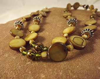 Bamboo Jasper Pendant Necklace and Earrings:  Lucky Bamboo