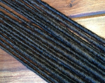 Synthetic Dreads - Brown and Black Mix SE - SET OF 4