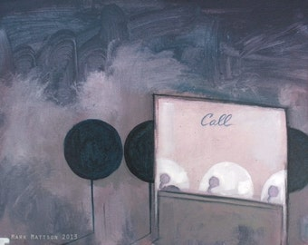 Just Call: Original Mixed Media Painting by Mark Mattson