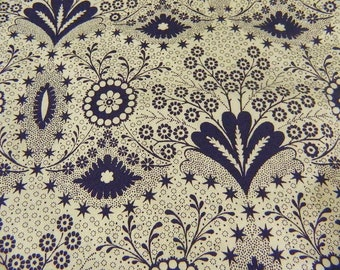 Victoria and Albert Museum Black and White Design Cotton Fabric - David Textiles