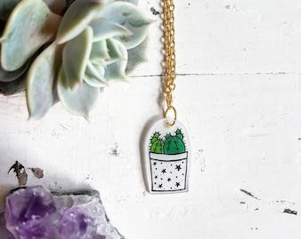 Cactus Necklace // Cactus Jewellery // Succulent Necklace // Succulent Jewellery // Plastic Necklace // Plastic Jewellery