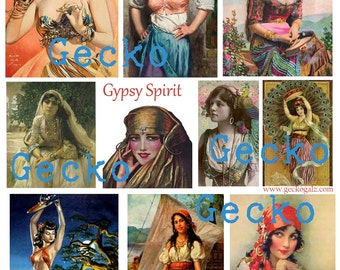 Gypsy Spirit Digital Collage Sheet