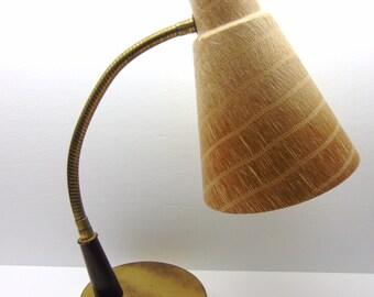 Vintage Goose neck Lamp, Fiberglass Desk Lamp