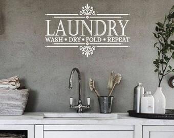 Laundry Room Wall Decal | Laundry Room Decor | Laundry Room Sign | Laundry Sign | Laundry Room Decal |  Laundry Decal | Laundry Room Art