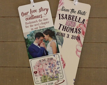 Customized Save The Date Bookmark, Save The Date, Bookmark Invitation, Bookmark Save The Date, Wedding, Personalized Bookmark,