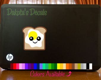 Cute Toast with Egg Car Decal