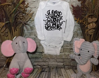 I Love You to the Moon and Back Baby Bodysuit| Onsie| Romper