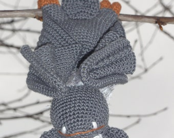 Amigurumi Crochet Pattern - Ultra Viola the Bat - English Version