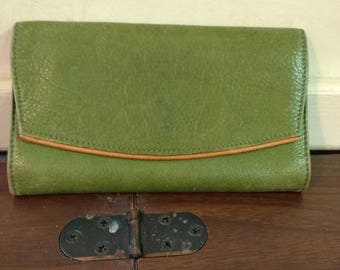 Osgood Marley Light Green Cashmere Leather Wallet