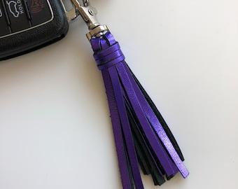 Purple Metallic Tassel Key Chain