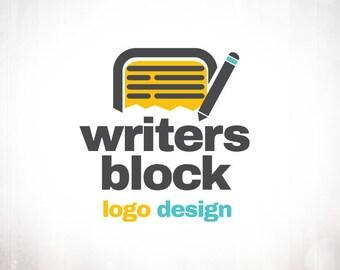 Premade Logo Design • Writers Block