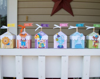 Circus Tent Favor Boxes Set of 12 in Two Sizes with Free Shipping