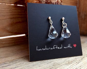 Swarovski Crystal Raindrop Earrings