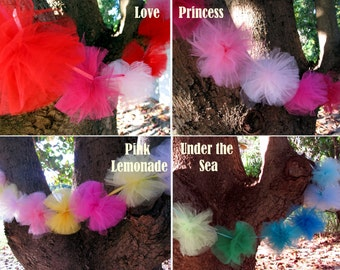 tulle pompom garland - the perfect decoration/ accessory for your themed birthday party, wedding or anniversary