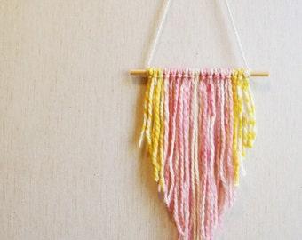 Yarn hanging, yarn wall art decor, woven wall weaving wall hanging, wall weaving, hanging wall decor, weaving wall hanging