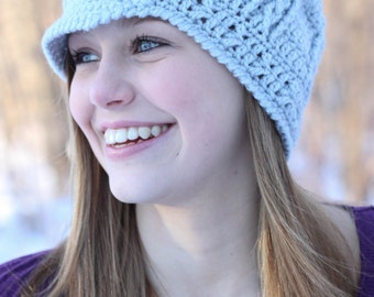 Twisted Cable Beanie/Newsboy - PDF Crochet Pattern -INSTANT DOWNLOAD