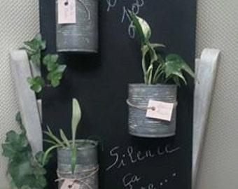 Slate table door plant