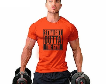 Straight Outta The Gym T-shirt / Men's Gym T-shirt Super Soft Feel - Premium Quality ! - Fast Delivery !