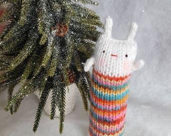 Kitty Kickers,  Organic Catnip Toy, Kick Sticks,  Knitted cat kicker stick, Jalegurumi kicker, Easter Bunny Cat toys, Silver vine, Matatabi
