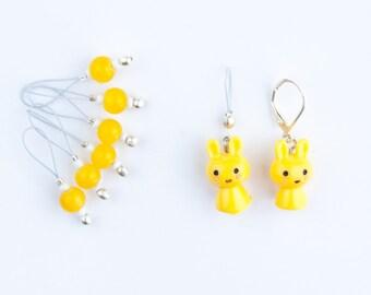 8 Yellow Bunny Markers - 6+1 markers - 1 progress marker - Ready to ship