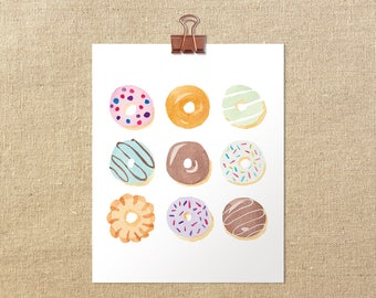 "Donut-a-Day Giclée Art Print | 5x7"" or 8x10"""