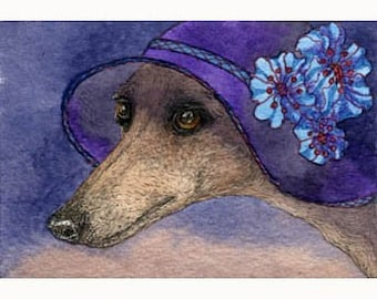Whippet of Mystery dog 8x10 print