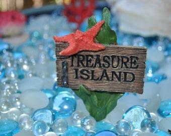 Mermaid Garden Treasure Island Sign