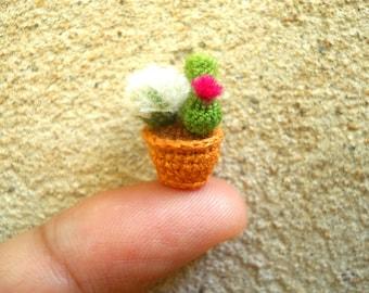 Micro Cactus Type 01 -Tiny Crochet Cactus Amigurumi Plant - Made to Order