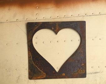 Rustic metal hearts