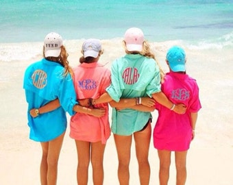 Monogrammed women's fishing shirt- cover up!!