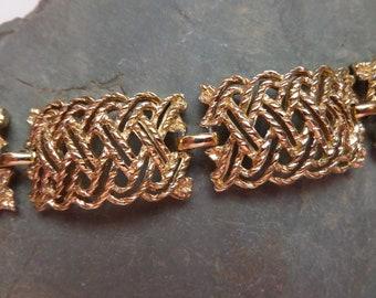 BSK signed Goldtone Vintage Bracelet