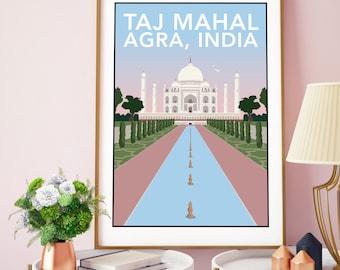 Taj Mahal, Agra India Print