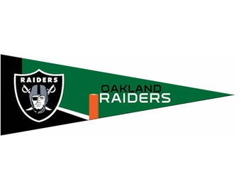 "Oakland Raiders NFL Small Pennant, 5"" x 15"""