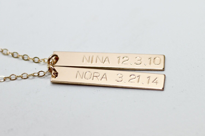 Benutzerdefinierte bar Halskette Kinder Namen Halskette