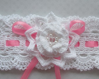 Baby girl Headband Flower Pattern - Crochet Headband Pattern - Instant Download PDF file - BABYS Headband Pattern