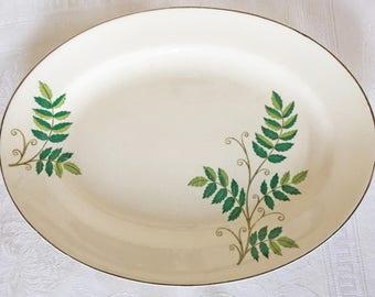 Knowles Green Leaf Platter