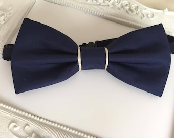 Bow tie Navy Blue and beige - man